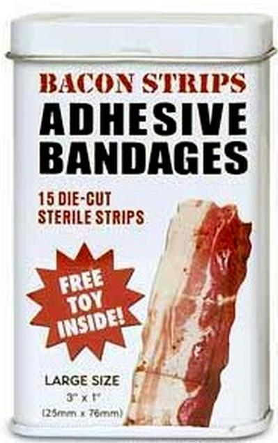 Click to get Bacon Strips Adhesive Bandages