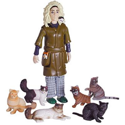Click to get Crazy Cat Lady Action Figure