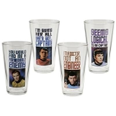 Click to get Star Trek 4 pc 16 oz Glass Set